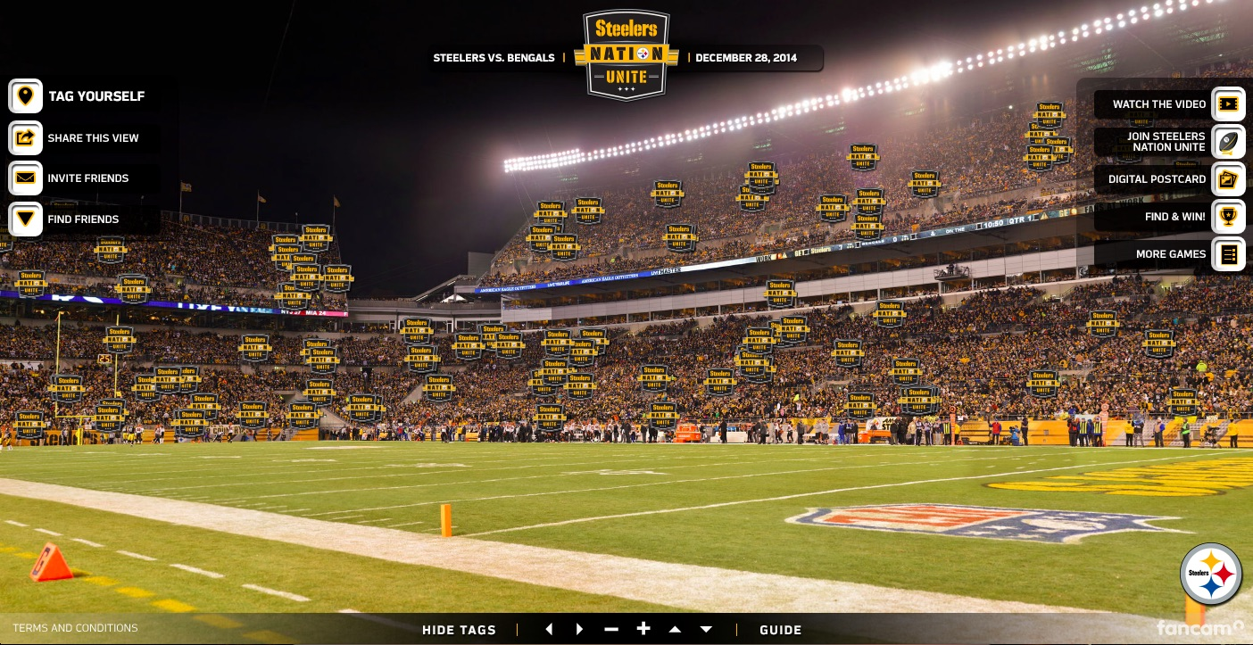 The Pittsburgh Steelers… more pixels than any other team